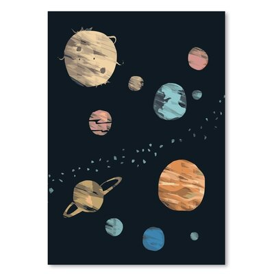 Americanflat Planets_Brushed' by The Glass Mountain Art Print