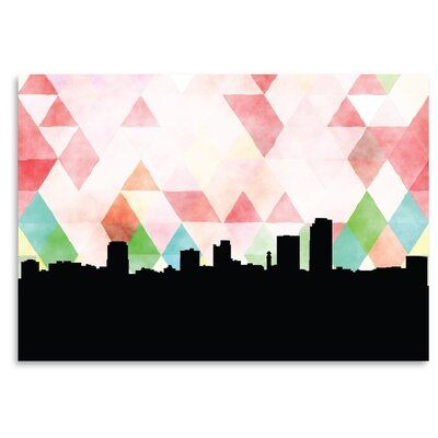 Americanflat 'LittleRock_Triangle' by PaperFinch Graphic Art
