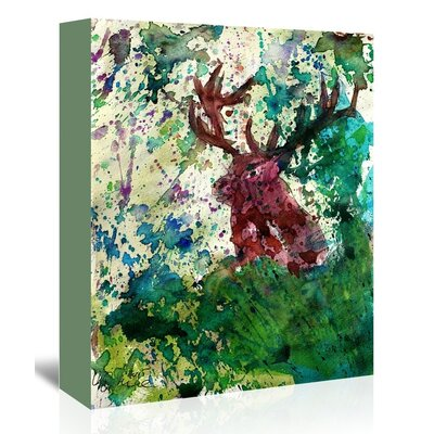 Americanflat 'Party Deer' by M Bleichner Art Print Wrapped on Canvas