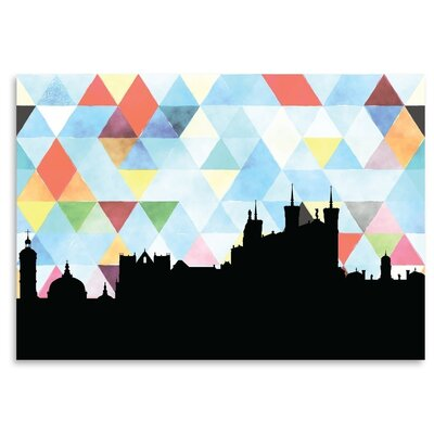 Americanflat 'Lyon_Triangle' by PaperFinch Graphic Art