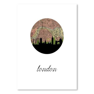 Americanflat London Map SKyline' by PaperFinch Graphic Art