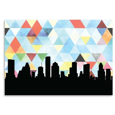 Americanflat 'Houston_Triangle' by PaperFinch Graphic Art