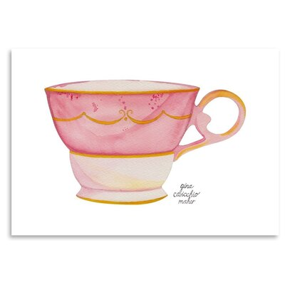 Americanflat Teacup' by Gina Maher Art Print
