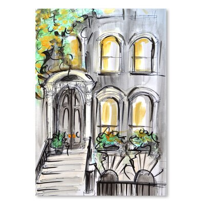 Americanflat 'Curb Appeal' by Cara Francis Art Print