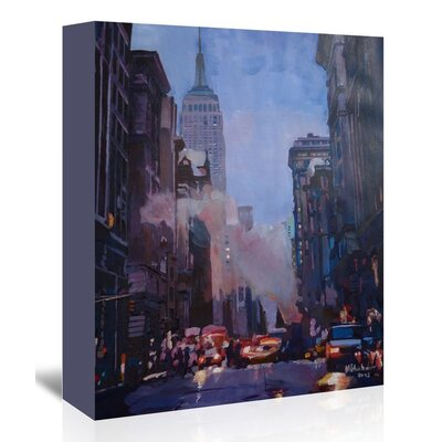 Americanflat 'Ny Street Scene Empire State Building 2' by M Bleichner Art Print Wrapped on Canvas