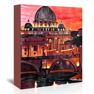 Americanflat 'Rome1' by M Bleichner Art Print Wrapped on Canvas