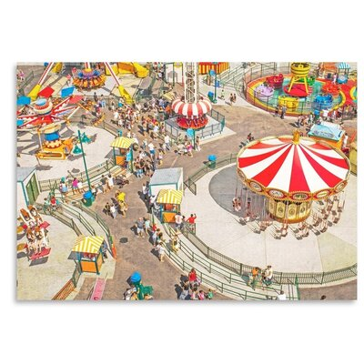Americanflat 'Aerial-Carnivale' by Mina Teslaru Photographic Print