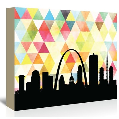 Americanflat Saint Louis Triangle' by Paper Finch Graphic Art on Canvas