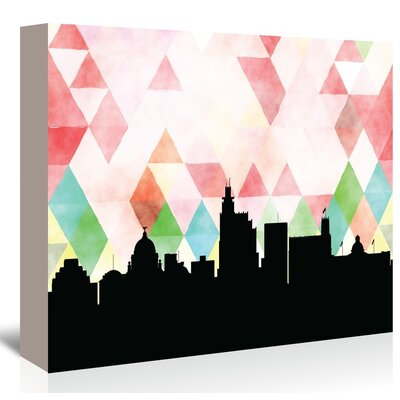 Americanflat 'Jackson Triangle' by PaperFinch Graphic Art Wrapped on Canvas