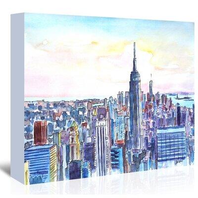 Americanflat 'Nyc Manhattan Skyline Neu' by M Bleichner Art Print Wrapped on Canvas
