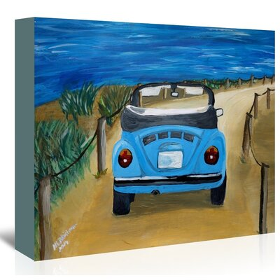 Americanflat 'Blue Bug At Beach' by M Bleichner Art Print Wrapped on Canvas