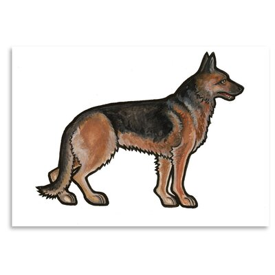 Americanflat 'German Shepherd' by Sally Pattrick Art Print