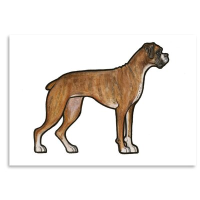 Americanflat 'Boxer' by Sally Pattrick Art Print