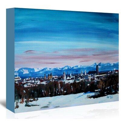 Americanflat Snow Covered Winter Munich' by Markus Bleichner Art Print on Canvas