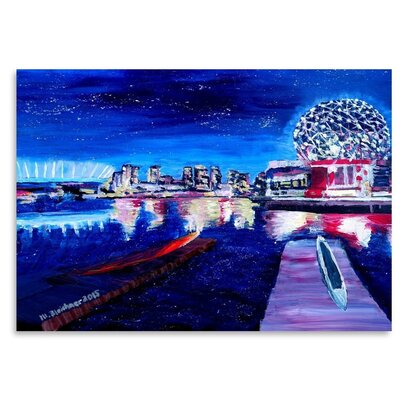 Americanflat 'Vancouver Skyline At Starry Night' by M Bleichner Art Print