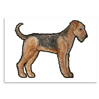 Americanflat 'Airedale' by Sally Pattrick Art Print
