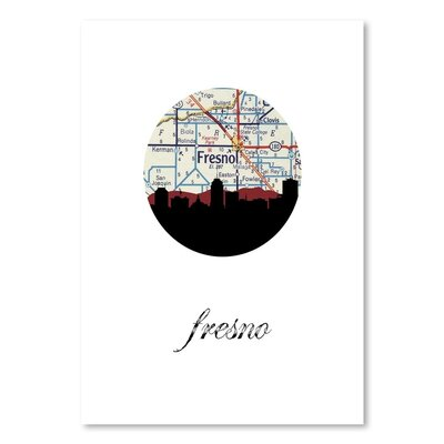 Americanflat 'Fresno Map Skyline' by PaperFinch Graphic Art