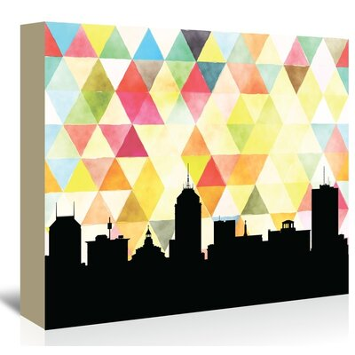 Americanflat 'Fresno_Triangle' by PaperFinch Graphic Art Wrapped on Canvas