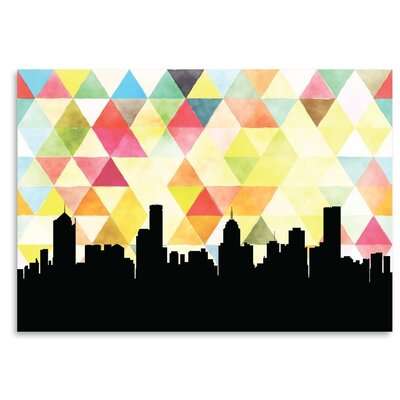 Americanflat 'Melbourne_Triangle' by PaperFinch Graphic Art