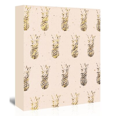 Americanflat 'Gold Pineapples' Graphic Art Wrapped on Canvas