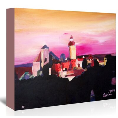 Americanflat 'Nuremberg With Castle At Dusk' by M Bleichner Art Print Wrapped on Canvas
