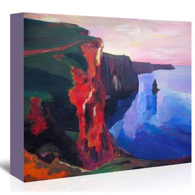 Americanflat 'Cliffs Of Moher In County Clare Ireland At Sunset Aillte An Mhothair' by M Bleichner Art Print Wrapped on Canvas