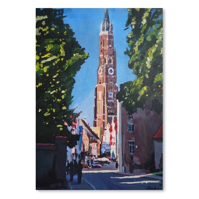 Americanflat 'Landshut Munchner Tor 1' by M Bleichner Art Print