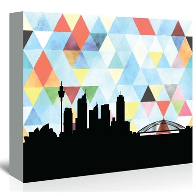 Americanflat 'Sydney_Triangle' by PaperFinch Graphic Art Wrapped on Canvas