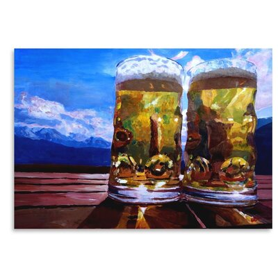 Americanflat 'Twobeerswithmountains 2' by M Bleichner Art Print