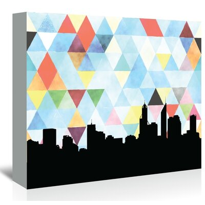 Americanflat 'Perth Triangle' by PaperFinch Graphic Art Wrapped on Canvas