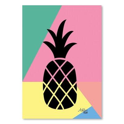 Americanflat 'Geometric Pineapple' by Ashlee Rae Graphic Art