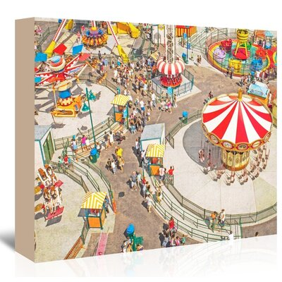 Americanflat 'Aerial-Carnivale' by Mina Teslaru Graphic Art Wrapped on Canvas