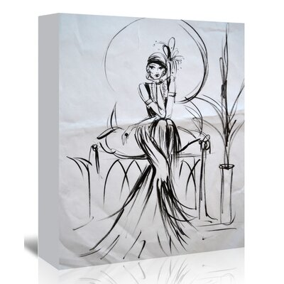 Americanflat 'Golden Age Glamour' by Cara Francis Art Print Wrapped on Canvas