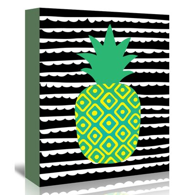 Americanflat 'Tropical Pineapple' by Ashlee Rae Graphic Art Wrapped on Canvas