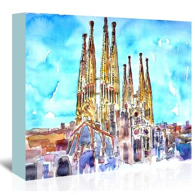 Americanflat 'Sagrada Familia Barcelona Catalonia Neu' by M Bleichner Art Print Wrapped on Canvas