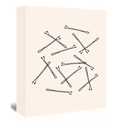 Americanflat 'Bobby Pins' Graphic Art Wrapped on Canvas