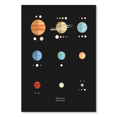 Americanflat 'Planets Moons' by The Glass Mountain Graphic Art