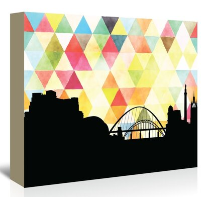 Americanflat 'Newcastle Triangle' by PaperFinch Graphic Art Wrapped on Canvas