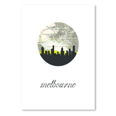 Americanflat 'Melbourne Map Skyline' by PaperFinch Graphic Art