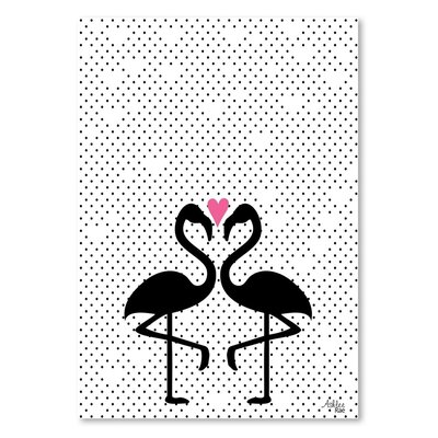 Americanflat 'Flamingo Love' by Ashlee Rae Graphic Art