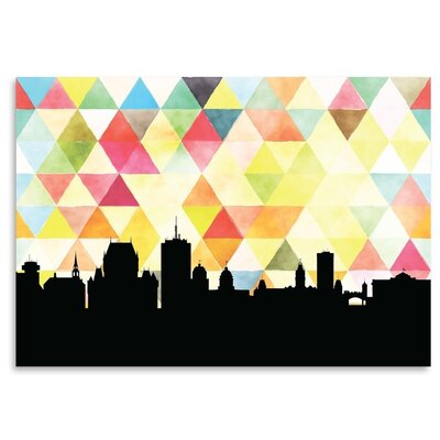 Americanflat 'Quebec_Triangle' by PaperFinch Graphic Art Wrapped on Canvas