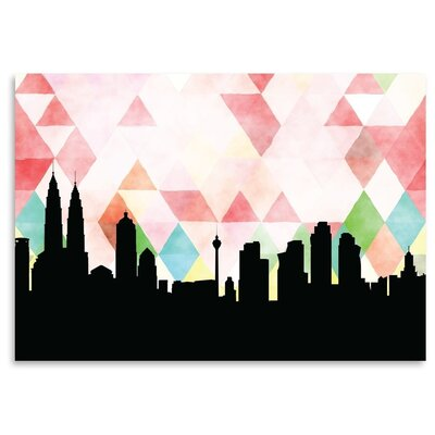 Americanflat 'Kuala-Lumpur_Triangle' by PaperFinch Graphic Art