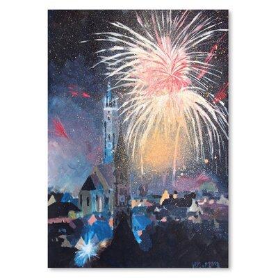 Americanflat 'Landshut Bavaria Fireworks' by M Bleichner Art Print