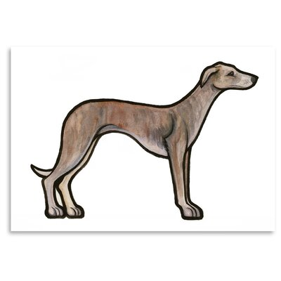 Americanflat 'Whippet' by Sally Pattrick Art Print