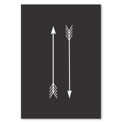 Americanflat 'Two Arrows Black Up To' by Melinda Wood Graphic Art