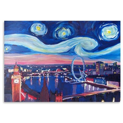 Americanflat Starry Night In London' by Markus Bleichner Art Print