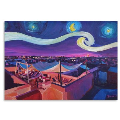 Americanflat 'Starry Night In Marrakech' by M Bleichner Art Print