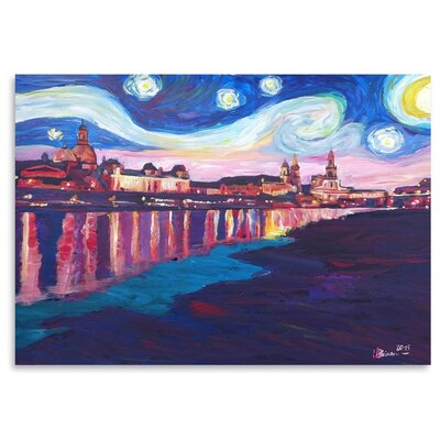 Americanflat 'Starry Night In Dresden' by M Bleichner Art Print
