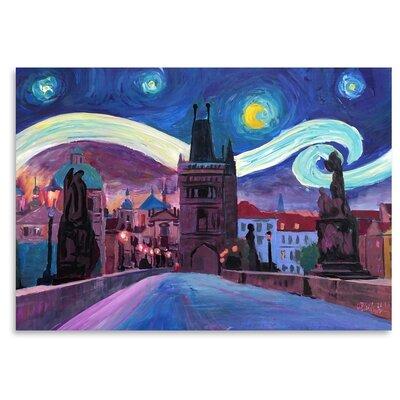 Americanflat 'Starry Night In Prague' by M Bleichner Art Print