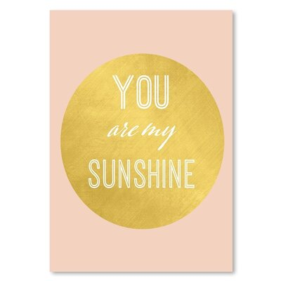 Americanflat 'You Are My Sunshine' Typography